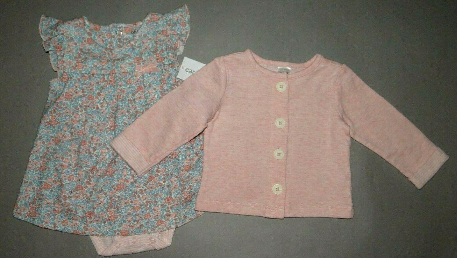 Baby girl clothes, 6 months, Carter's Dress & Cardigan set/