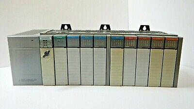 Allen Bradley Slc 500 10 Slot Plc Rack With Modules Slc 504 1747-l542 Cpu