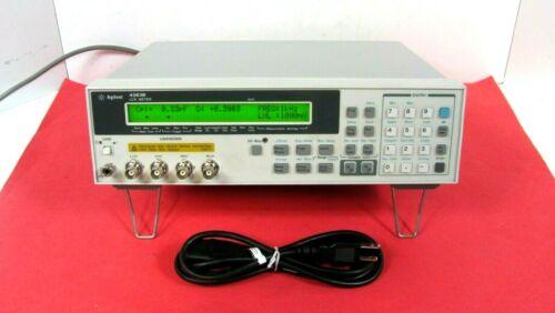 Agilent Model 4263B LCR Meter 100hz To 100Khz Option 001 002 V10, Free Shipping