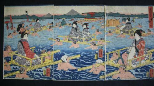japanese woodblock print   woman