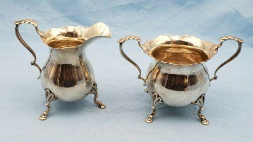 Vintage Baldwin & Miller Sterling Silver Sugar Bowl & Creamer Set #7059