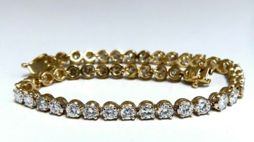 4.50ct Natural Diamonds Tennis Bracelet 14kt F/g 7 Inch