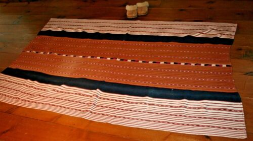 Solola GUATEMALA TZUTE TEXTILE Weaving Cotton Ikat BlanketTABLECLOTH RUG MEXICO