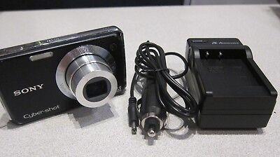 Sony Cyber-Shot DSC-W220 Black Digital Camera 12.1MP 4X (Sony W220)