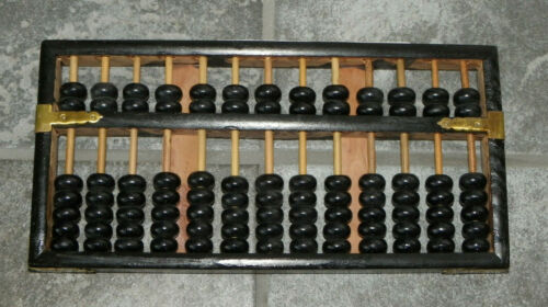 Wooden Abacus-Cathay Pacific Airlines Promotion Or Award?-13 Rods-91 Discs