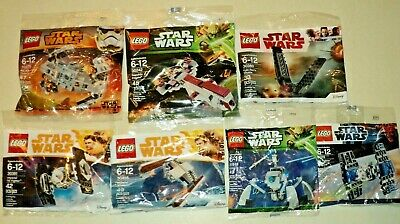 LEGO STAR WARS Ship Lot of 7 New In Polybags All Different TIE Fighter AT Hauler