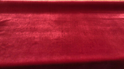 Fabricut Linden Velvet Clare Red Upholstery Fabric by the yard