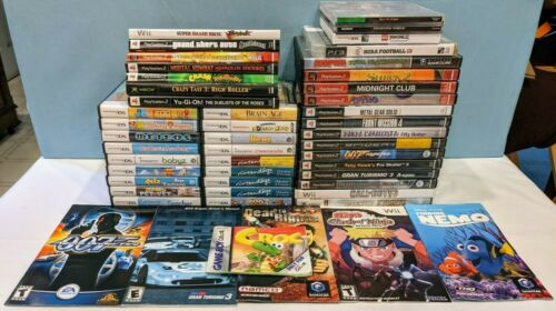 Various Empty Game Cases & Inserts Lot - 36 Cases, 6 Loose Manuals & 7 Cover Art