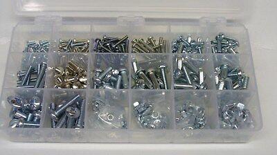 METRIC PHILLIPS PAN HEAD MACHINE SCREW & NUT ASSORTMENT M3mm 4mm 5mm 6mm