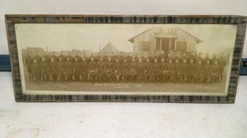 1919  WWI YARD LONG PHOTO = CAMP McCLELLAN ALA = OFFICER 35TH FIELD ARTILLERY