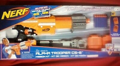 NERF ELITE Alpha Trooper CS-6 Mission Kit, Limited Edition! WITH FOLDING STOCK!