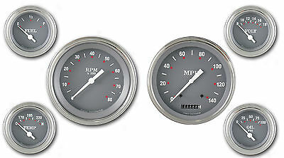 Classic Instruments SG Series Speedo Tach SG01SLC 6 Gauge Set Curved Glass