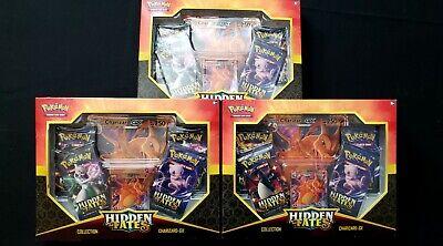 Pokemon Hidden Fates GX Collection Box - LOT of 3 CHARIZARD Sealed