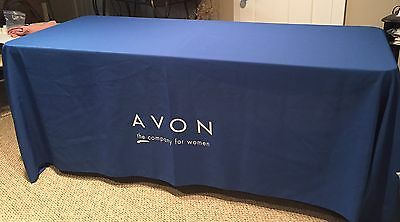 Avon Blue Table Cover - 72 x 120 fits 8 ft Table - Large