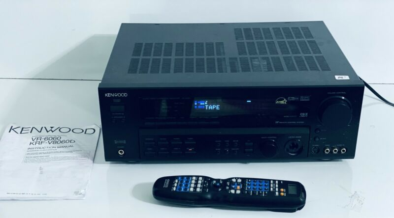 Kenwood VR-6060 Audio Video Surround Sound Receiver Remote  & Manual BUNDLE