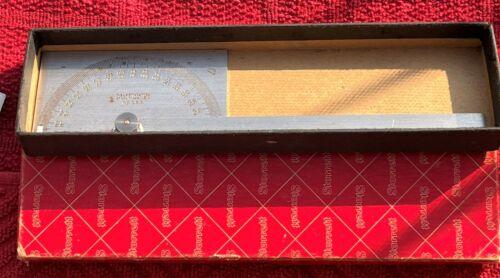 VINTAGE STARRETT NO. 183 PROTRACTOR IN ORIGINAL BOX