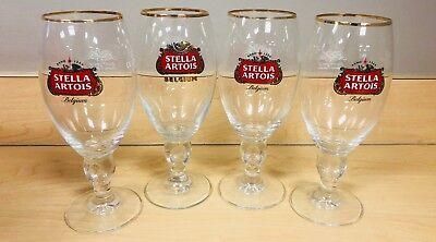 4 NEW Stella Artois Chalice 40 CL Beer Glasses Pub Bar Goblet Man Cave Belgium