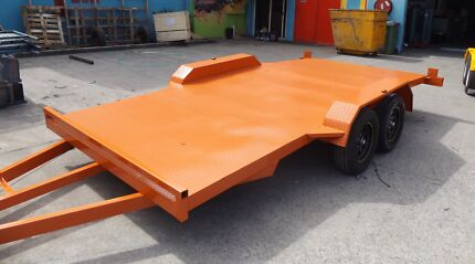 NEW 15FT CAR TRAILER WITH RAMPS/BEAVER TAIL/NEW TYRES & RIMS Gold Coast Region Preview
