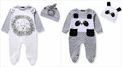 NWT Boutique Baby Boy Lion Footed Sleeper Pajamas Hat Set 0-6 6-12 12-18 18-24 M Infant Sleeper Pajamas