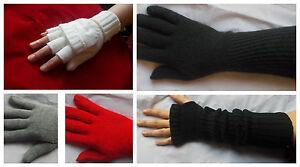 Women Ladies Soft knitted short Long converter Luxury Gloves EX TOP SHOP RRP £12