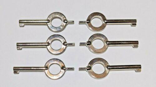 Universal Handcuff Keys - S+W, Peerless, Hiatt, etc...  6pc Lot - NEW!!