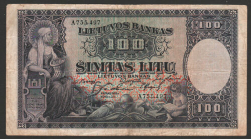 Lithuania 100 Litu 1928 F P#25