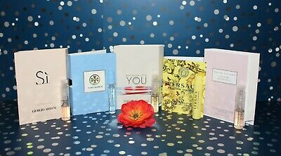 Lot of 5 Designer Perfume Samples: Armani, Tory Burch, Versace, Ralph Lauren +