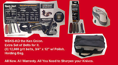 Work Sharp Knife & Tool Sharpener Ken Onion Edition WSKTS-KO w/ Stropping Kit