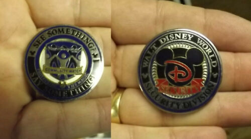 Disney World Security Community Watch See Say Something Official Challenge Coin