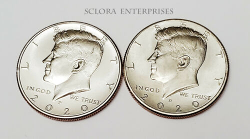 2020 P & D Kennedy Half Dollar Set (2 Coins) *BU - UNCIRCULATED* *FREE SHIPPING*