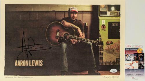 AARON LEWIS Signed Autograph 11x16.5 Print JSA