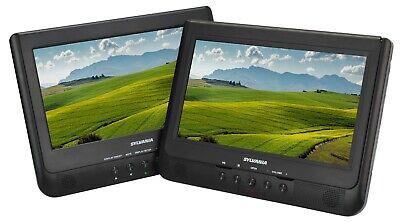 "Sylvania SDVD1037 10"" Dual Screen Portable DVD Media Player - Recertified"