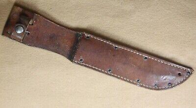EXTREMELY RARE ROBESON USMC KNIFE SHEATH W/WHITE THREAD