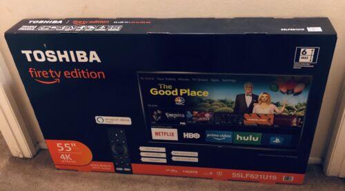 как выглядит Телевизор для дома NEW Toshiba 55 LED 2160p 4K Chromecast Built-in SMART ULTRA HDTV 55L621U 2017 TV фото