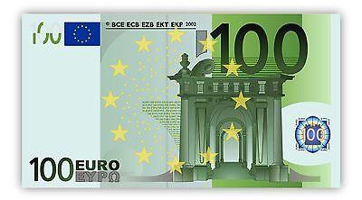 XL Poster 84 x 46 cm 100 Euro Geld Banknoten Geldschein Money Bill EUR Plakat