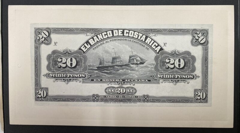 Costa Rica Banknote Proof   Front/Back P S165