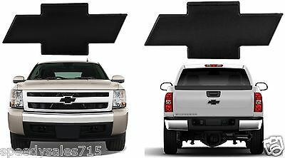 - All Sales Front & Rear 2007-2013 Chevy Silverado 1500 Black Billet Bowties New