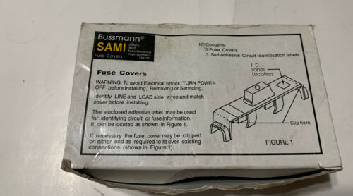 SAMI-1I  Cooper Bussmann Fuseholder Indicating Cover J30 box of 3 NEW