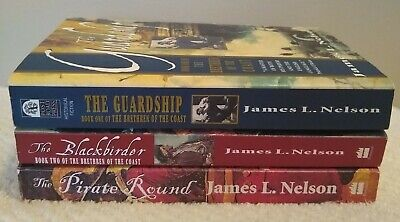 Brethren of the Coast Series by James L Nelson - Thomas Marlowe Books-Lot of 3