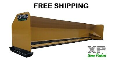 16 Xp36 Snow Pusher Boxes Backhoe Loader Express Steel- Free Shipping-rtr