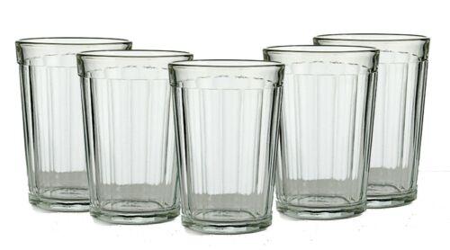 Set of 5 Russian Tea Glasses for Holder Podstakannik Soviet Granyonyi Glassware