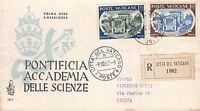 Vaticano Vatican Busta Raccomandata Fdc Venetia 1957 Accademia Scienze Vedi Foto -  - ebay.it
