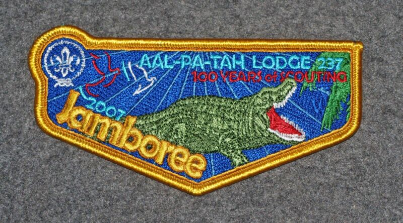 ORDER OF THE ARROW LODGE FLAP…AAL-PA-TAH LODGE 237…S91…2007 WORLD JAMBOREE