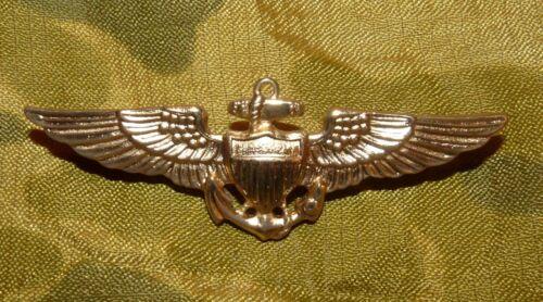 Original 1960s-70s US Navy Naval Aviator Full Size Metal Wings NOS
