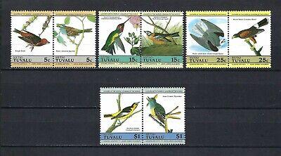 Tuvalu-Niutao 1985 Sc#25-8  Birds-Audubon Bicentennial  MNH Pairs Set $4.05
