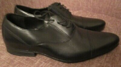 MENS BLACK FORMAL LACE UP SHOES BROGUES SIZE 9 EURO 43 EXCELLENT CONDITION