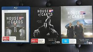 House of Cards TV Series Blu-Ray - Season 1,2,3 Marrickville Marrickville Area Preview