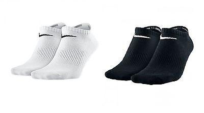 Pair Nike No Show Ankle Sports Socks Mens Womens White Black Grey