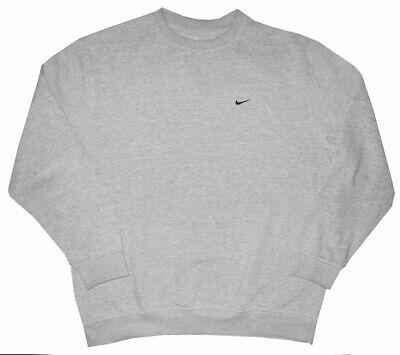 NIKE MEN'S HEATHER GRAY GYM RUNNING TRACK FLEECE SWEATSHIRT SWEAT SHIRT XL Fleece Running Sweatshirt