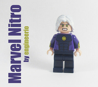 LEGO Custom - Nitro - Marvel Super heroes mini figure X-men wolverine